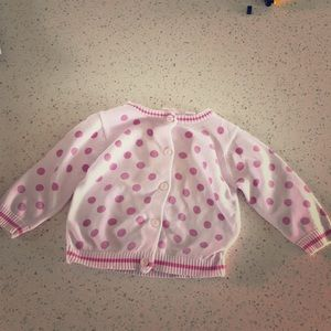 Maggie & Zoe Pink Spotted Cardigan